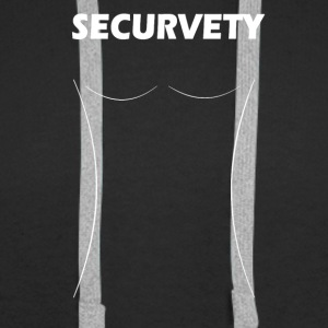 Securvety White - Sexy Curvy security. - Men's Premium Hoodie