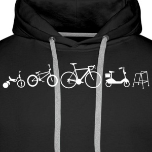 Bicycle evolution - Men's Premium Hoodie