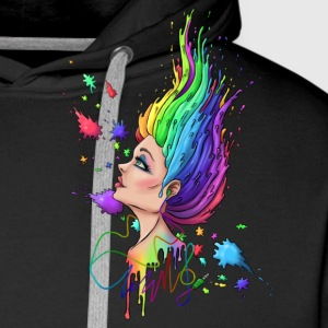 Music brings color to dark - Men's Premium Hoodie
