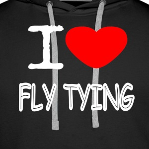 I LOVE FLY TYING - Men's Premium Hoodie