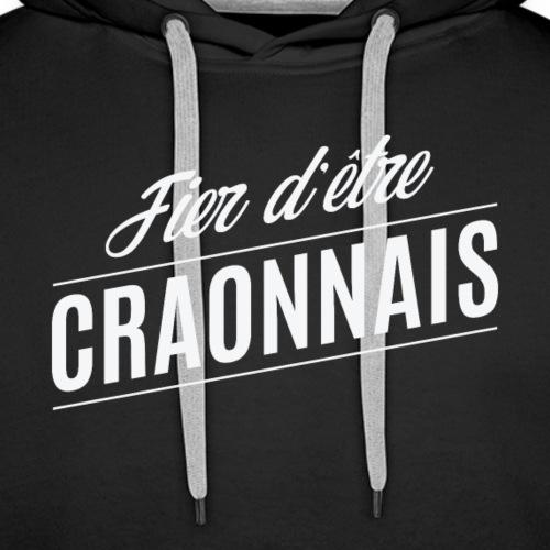 Fier d'être Craonnais - Sweat-shirt à capuche Premium pour hommes