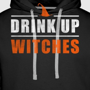 Halloween Drink up Witches outfit - Mannen Premium hoodie