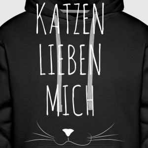 Cat Loves Me - Premium hettegenser for menn