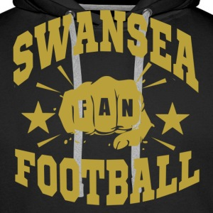 Swansea Football Fan - Sweat-shirt à capuche Premium pour hommes