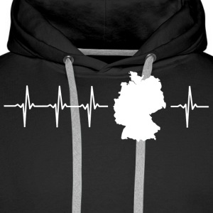 Germany, heartbeat design (I love Germany magnif) - Men's Premium Hoodie