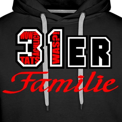Rot 31ER Familie - Männer Premium Hoodie