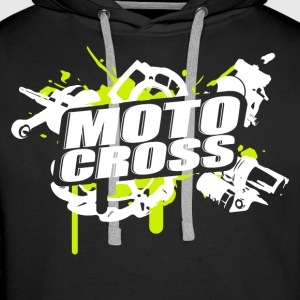 Motocross Supermoto Enduro Vol.I g / w - Sweat-shirt à capuche Premium pour hommes