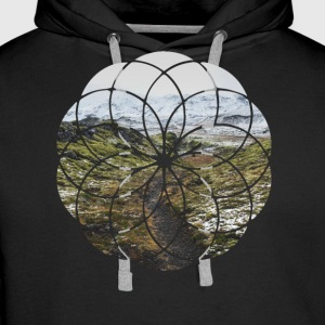 Geometric Shape - Landscape and Mountain - Men's Premium Hoodie