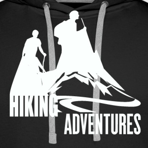Hiking Adventures - Wanderlust - Men's Premium Hoodie