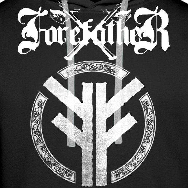 Forefather logo and symbol white