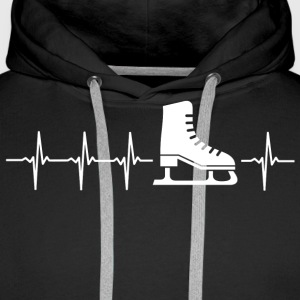 I love figure skating (heartbeat) - Men's Premium Hoodie