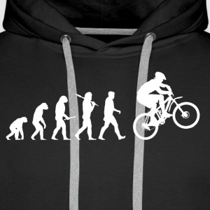 Evolution mountainbiken! Trekking Bike! - Mannen Premium hoodie
