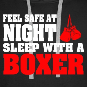SLEEP WITH A BOXER - Men's Premium Hoodie