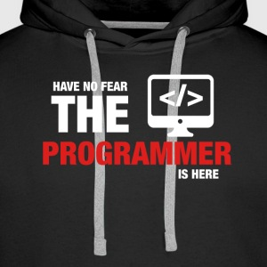 Have No Fear The Programmer Is Here - Men's Premium Hoodie