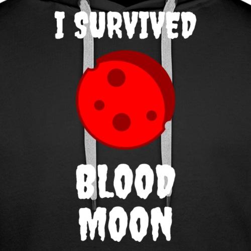 I Survived Blood Moon - Premium hettegenser for menn