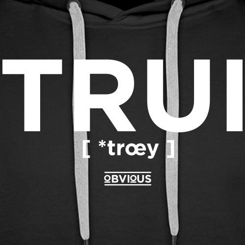 Obvious / Trui Wit - Mannen Premium hoodie