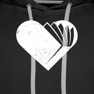 A heart for books - Men's Premium Hoodie