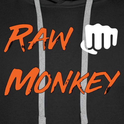 Raw Monkey White Punch - Sweat-shirt à capuche Premium pour hommes