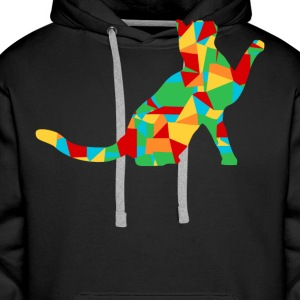 polygon cat - Men's Premium Hoodie