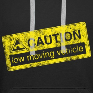 caution lowmovingvehicle by GusiStyle - Men's Premium Hoodie