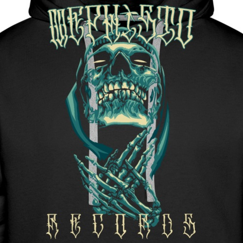 Mephisto Recordz Skull Praying Logo 2018 - Männer Premium Hoodie