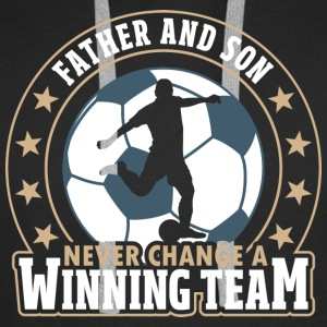 Father and Son - Never Change A Winning Team - Men's Premium Hoodie