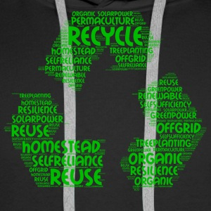 ecological word cloud - Men's Premium Hoodie
