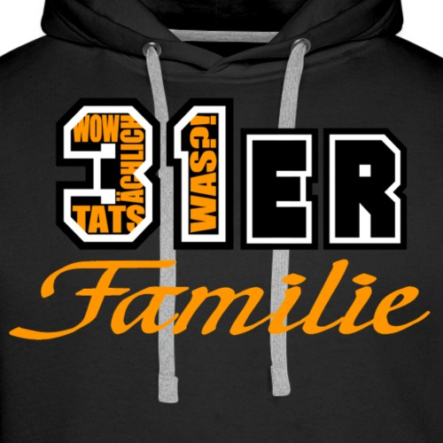 Orange 31ER Familie - Männer Premium Hoodie