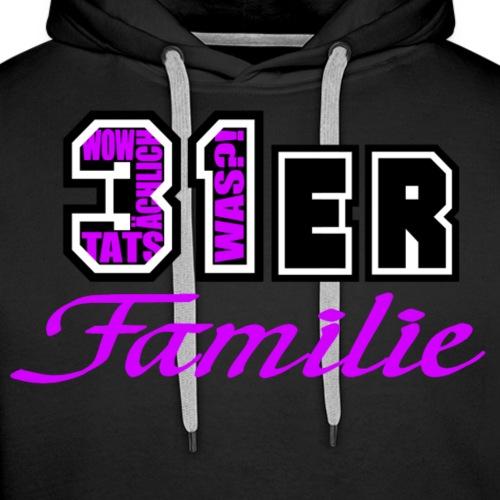 Pink 31ER Familie - Männer Premium Hoodie