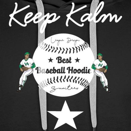 keep kalm baseball - Mannen Premium hoodie