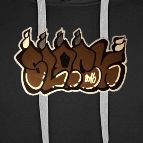 Brown slack by VWA - Sweat-shirt à capuche Premium pour hommes