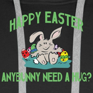 Happy Easter Any Bunny Need A Hug - Men's Premium Hoodie
