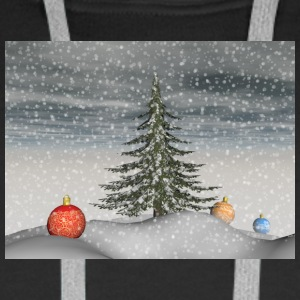 christmas_snow - Sweat-shirt à capuche Premium pour hommes