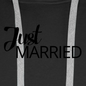 Wedding / Marriage: Just Married - Men's Premium Hoodie