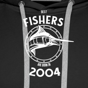 Present for fishers born in 2004 - Men's Premium Hoodie