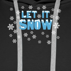 LET IT SNOW - Felpa con cappuccio premium da uomo