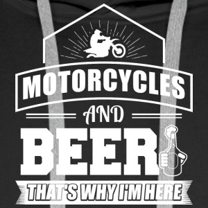 motorcycles AND BEER - Männer Premium Hoodie