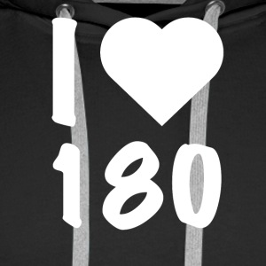 Darts - I Love 180 - Sweat-shirt à capuche Premium pour hommes
