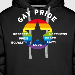 gay_star Fierté astérisque amour Respect fier cs - Sweat-shirt à capuche Premium pour hommes
