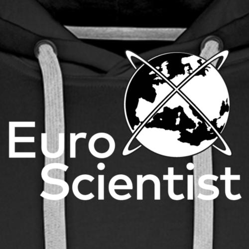 EuroScientist logo - white - Men's Premium Hoodie