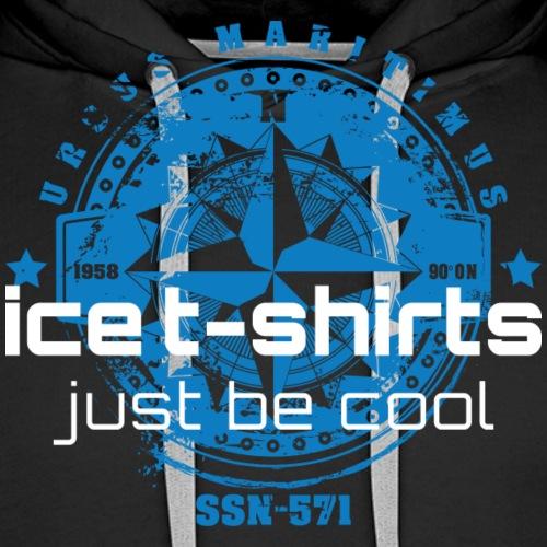 Kompass Siegel ice t shirt - Männer Premium Hoodie