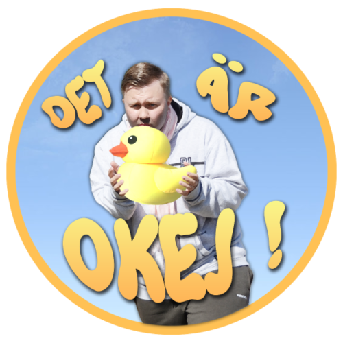 Joppe - Det är okej! (Ducky Edition) - Premiumluvtröja herr