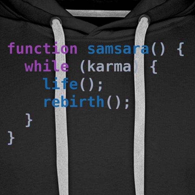 Funny T-Shirt: Samsara in JavaScript Programmer