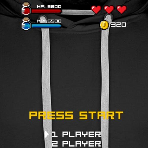 Press Start Player 1 - Sudadera con capucha premium para hombre