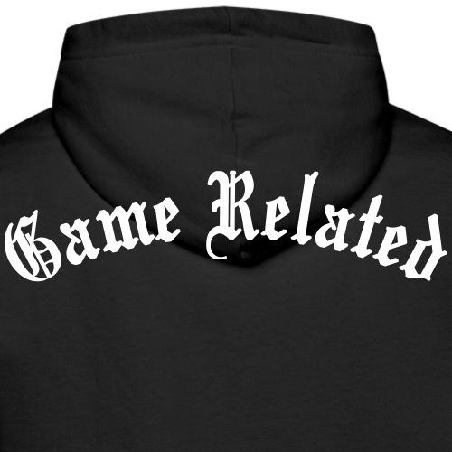 Game Related - valkoinen printti - Miesten premium-huppari