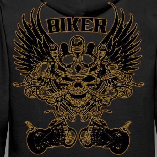 Biker - Sudadera con capucha premium para hombre