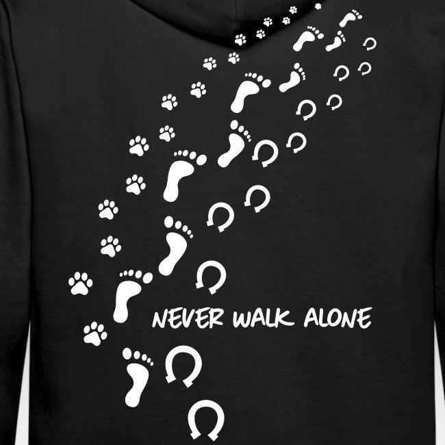 Vorschau: never walk alone hund pferd - Männer Premium Hoodie