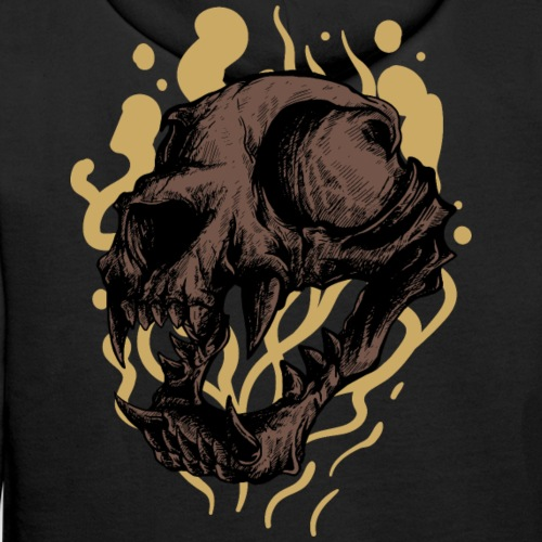 Cat Skull - Miesten premium-huppari