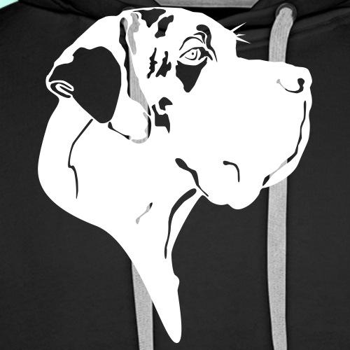Gefleckter Doggenkopf komplex - Männer Premium Hoodie