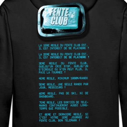 FENTE CLUB Regles t shirt foncés - Sweat-shirt à capuche Premium pour hommes